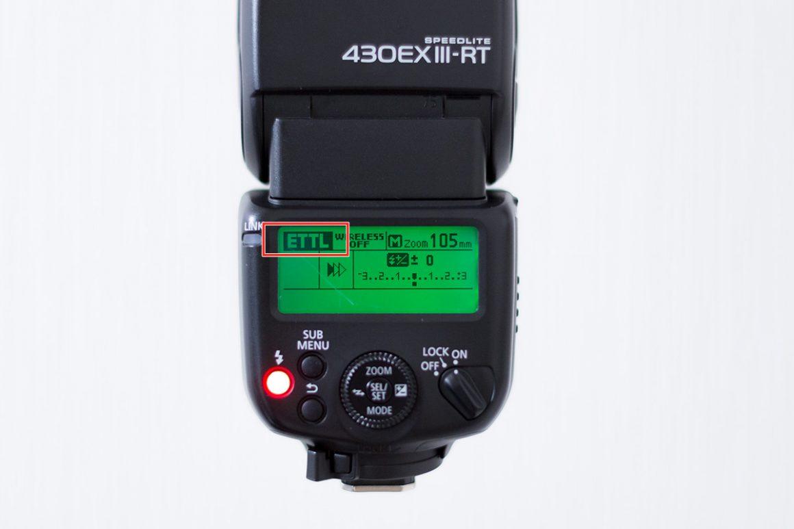 Canon430EX-ⅢRTの背面液晶操作パネル